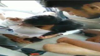 Telugu girl enjoying gang bang in car