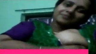 Telugu office girl boobs show to colleague